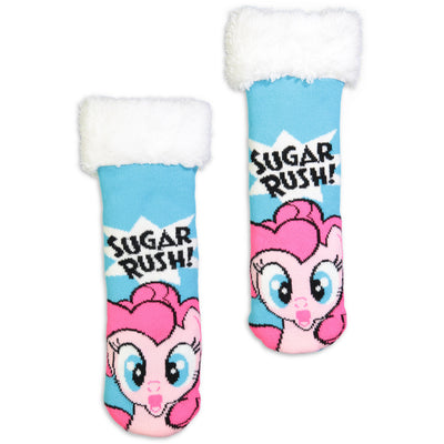 Kids My Little Pony Pinky Pie Cozy Slipper Sock - Fuzzy Babba