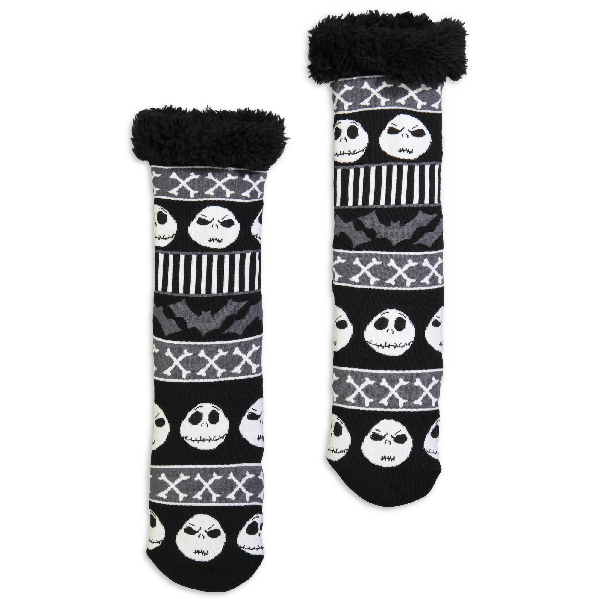 Nightmare Before Christmas Slipper Sock I Women I Fuzzy Babba