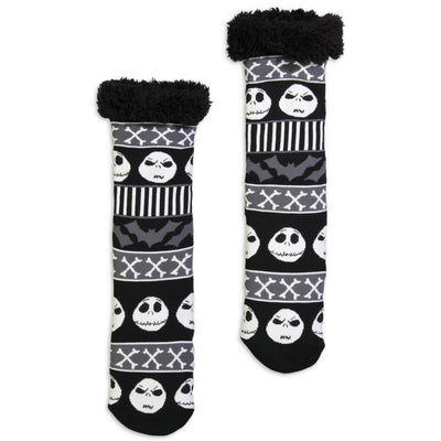 Women's Nightmare Before Christmas Slipper Sock - Fuzzy Babba