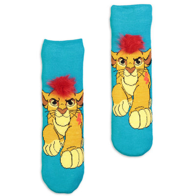 Kids The Lion King Simba Slipper Sock with 3D Faux Fur - Fuzzy Babba
