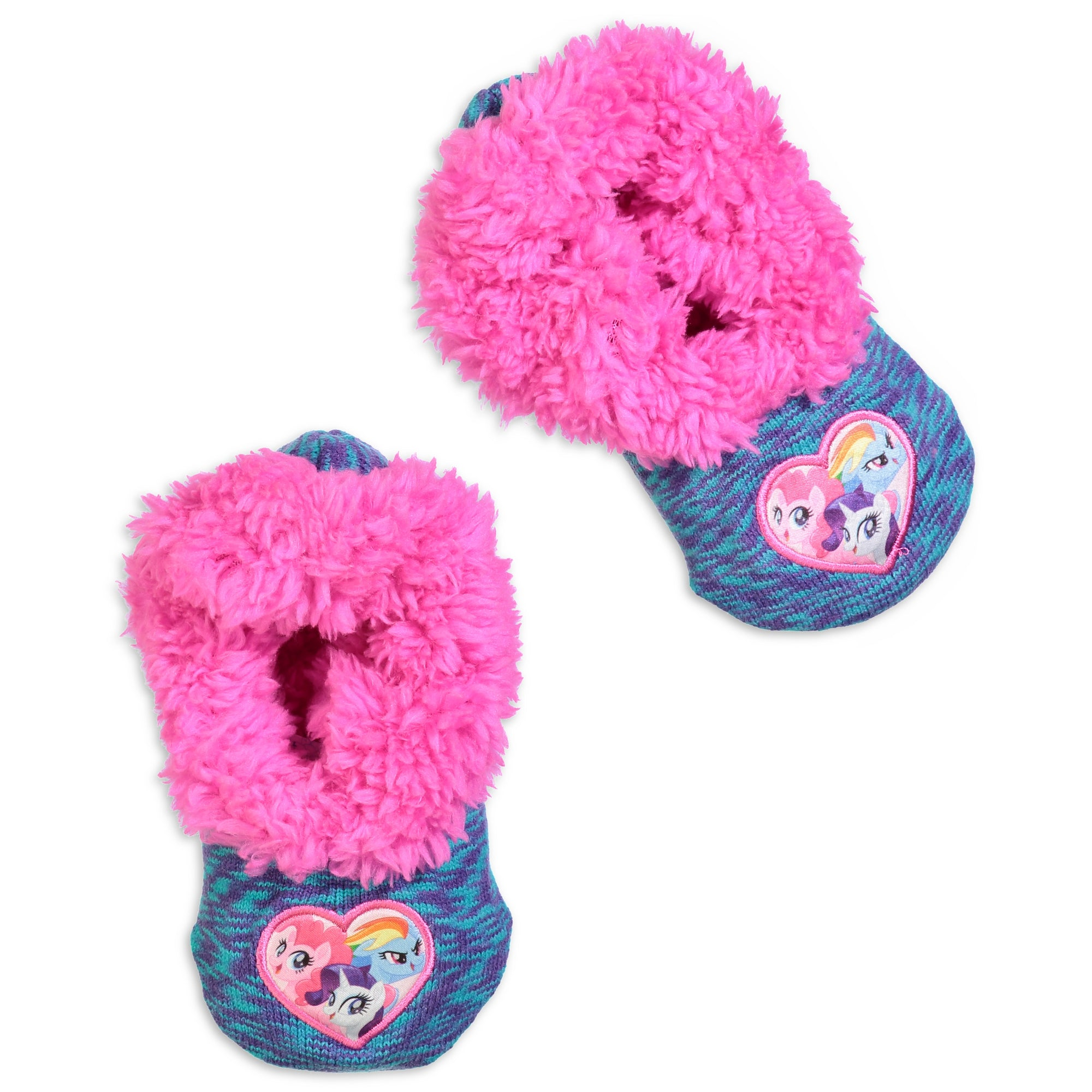 691bdd09fff Infant Toddler My Little Pony Knit Slipper Sock - Fuzzy Babba
