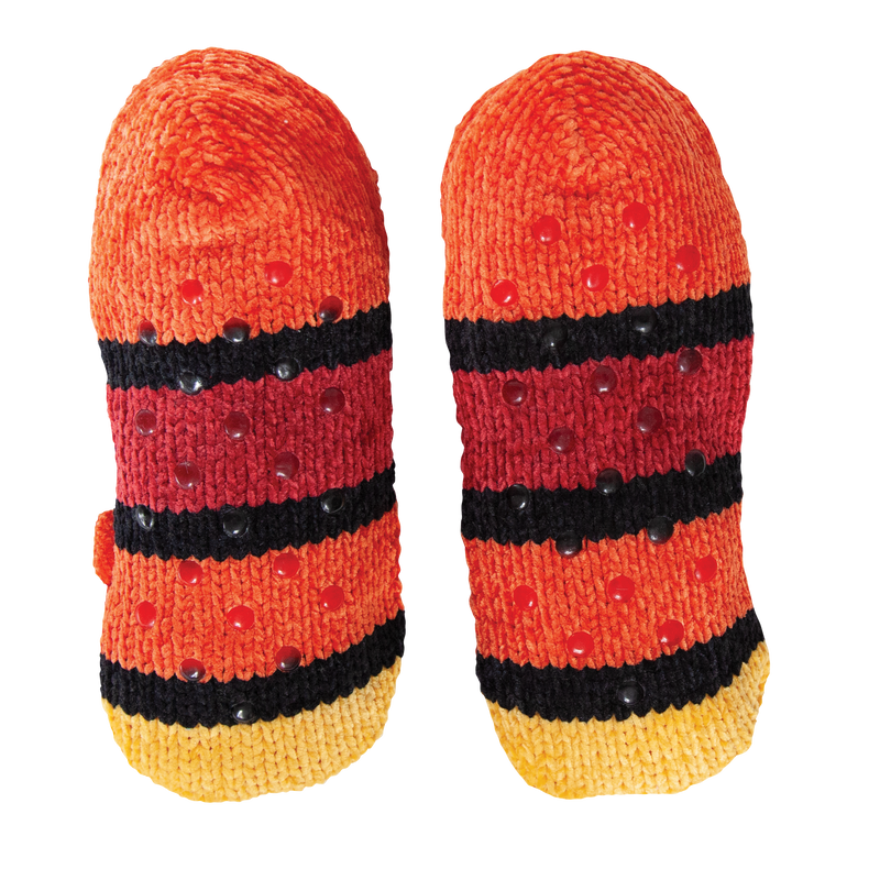 Women's Cozy Knit Slipper Socks with Fox Face and Sherpa Lining