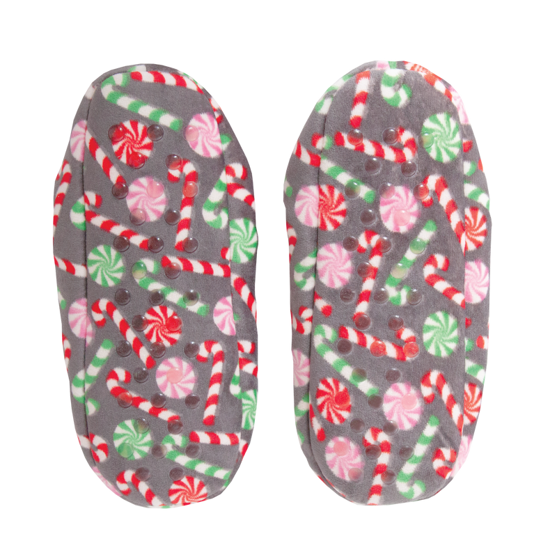Women's Holiday Candy Loafer Slipper Socks
