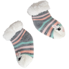 Kids Holiday Bunny Slipper Socks with Sherpa Lining - 2 pk