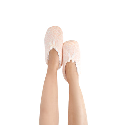 Women's Wellness Slipper Socks With Delicate Bow