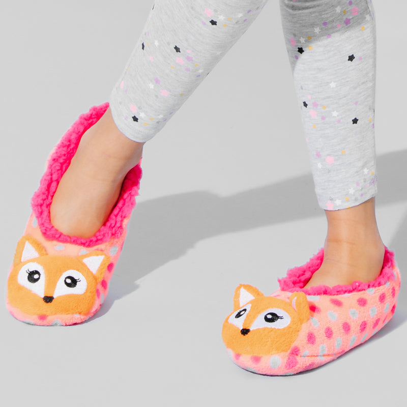 Girls Fox 3D Slipper Sock