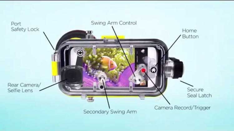 iPhone Diving Waterproof Cover Clear Photo