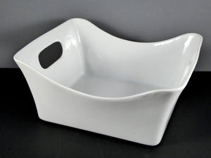 "#13086 BOWL 9.25"" X 8.5"" RECTANGLE W/HANDLES (64 OZ.)"