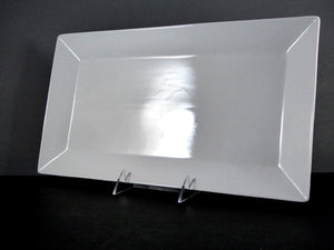 "#13129 PLATTER 15.5"" X 8.5"" RECTANGLE WIDE RIM"