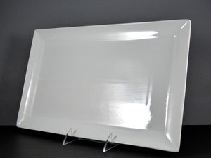 "#13131 PLATTER 15.25"" X 9.5"" RECTANGLE WIDE RIM"