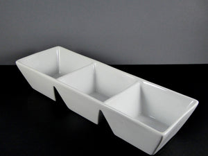 "#14053 DISH 13.25"" X 4.25"" RECTANGLE 3 SECTION (8 OZ.)"
