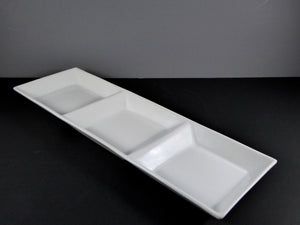 "#14072 DISH 17"" X 5.5"" RECTANGLE 3 SECTION (8 OZ.)"