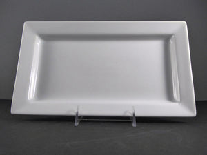 "#14167 PLATTER 12.5"" X 7.25"" RECTANGLE DEEP WIDE RIM"