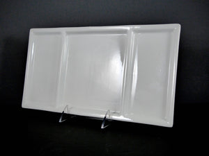 "#14229 DISH 13.25"" X 7"" RECTANGLE SHALLOW 3 SECTION"