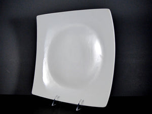 "#14245 PLATE 11.75"" SQUARE CURVED RIM"