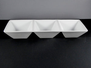 "#15205-1 DISH 14.25"" X 4.75"" RECTANGLE 3 SECTION (10 OZ.)"