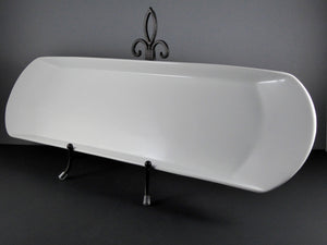 "#15252 PLATTER 25.5"" X 7.5"" RECTANGLE ROUND ENDS"