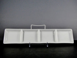 "#5747 DISH 14"" X 3.25"" RECTANGLE 4 SECTION (3 OZ.)"
