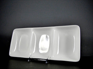 "#8337 DISH 15"" X 6.5"" RECTANGLE 3 SECTION (16 OZ.)"