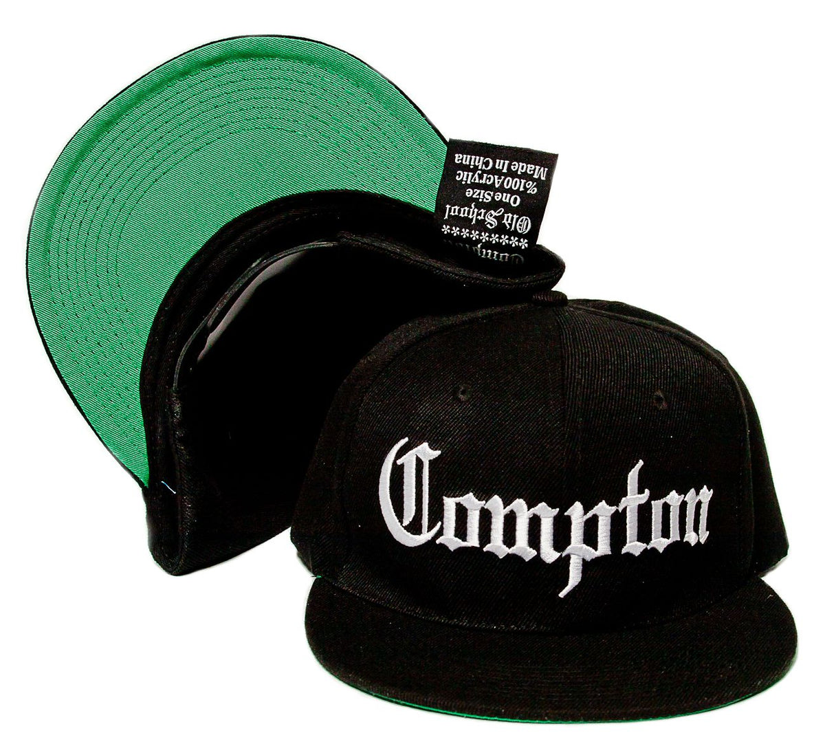 2c13d05be30af8 COMPTON Embroidered Acrylic Flat Bill OLD SCHOOL Hat Cap Gangsta Eazy –  capenvy.com