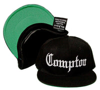COMPTON Embroidered Acrylic Flat Bill OLD SCHOOL Hat Cap Gangsta Eazy E