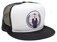 Anonymous Political Group Hat Snapback Flat Bill Baseball Cap Truckers Mesh/Foam