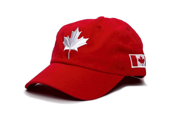 Canada Dad Hat Canadian Maple Leaf Cap Flag Embroidered Unisex Adult