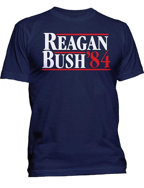 "USA Screen Print Direct Men's ""Reagan Bush '84"" Hip T-Shirt Blue Size XL"