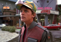 Marty McFly Hat Back to The Future Curved Bill Rainbow Cap Adult