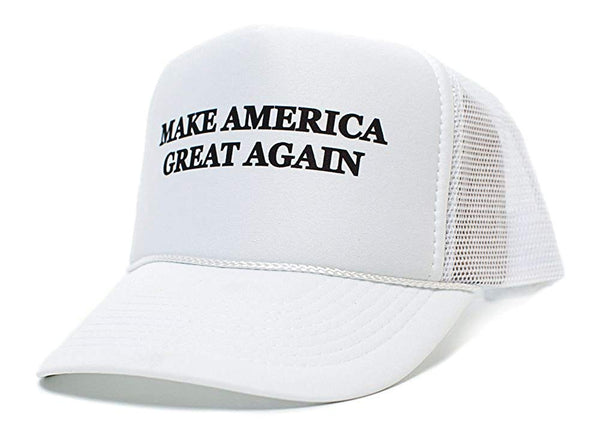 Trump 2016 Make America Great Again Unisex-Adult One Size Hat White/White
