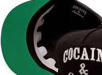 Cocaine & Caviar Embroidered Unisex-Adult Hat -One-Size Black/black