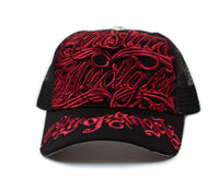 Christian Audigier COA Hat Cap Unisex Truckers City of Angeles Black/Red