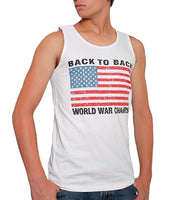 Back To Back World War Champs USA Men's Tank Top White