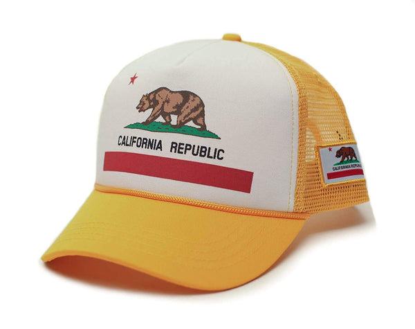 Custom California Republic State Flag Cali Unisex-Adult Trucker Hat Multi