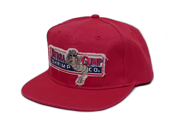 Bubba Gump Shrimp Co. Unisex-Adult One Size Embroidered Distressed Cap Red