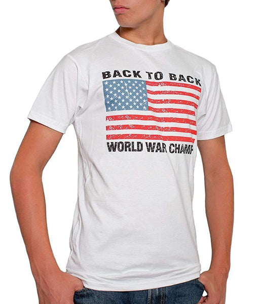 Back To Back World War Champs USA Men's T-Shirt White