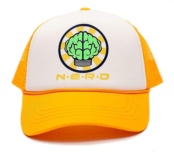 NERD Custom Unisex-Adult One-size Trucker Hat Multi (White/Yellow)