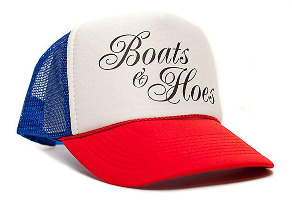 Boats 'N Hoes Movie Cap Hat Unisex Adult Trucker Multi