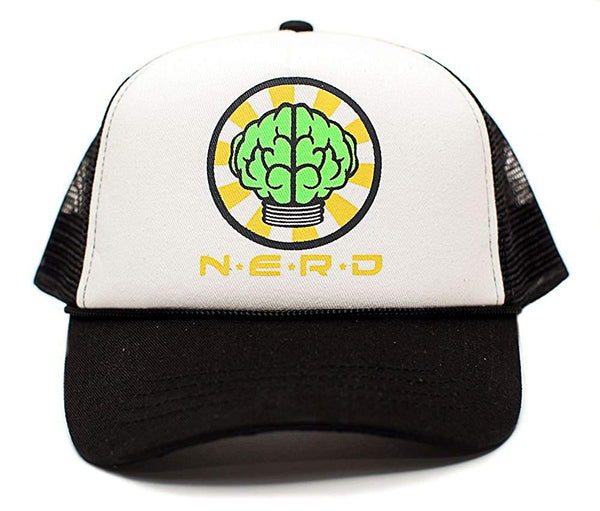NERD Custom Unisex-Adult One-size Trucker Hat Multi (White/Black)