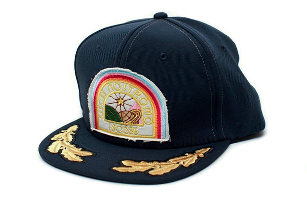Alien Nostromo Flat Bill USCSS Movie Hat Appliqué Patch Cap Unisex Adult Navy