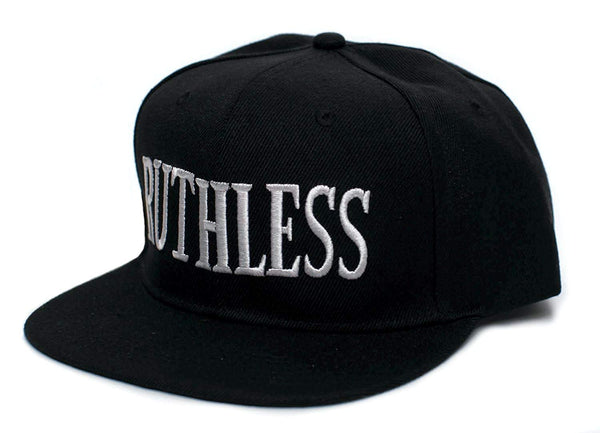 Ruthless Records Embroidered Vintage 90's Adult One Size Flat Bill Hat Cap Black