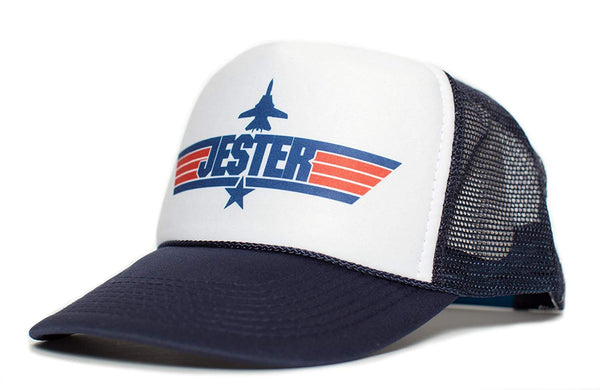 JESTER Top Gun Unisex-Adult Trucker Cap Hat -One-Size Multi (Navy/White)