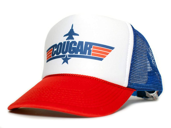 COUGAR Top Gun Unisex-Adult Trucker Cap Hat -One-Size Multi (Red/Royal/White)