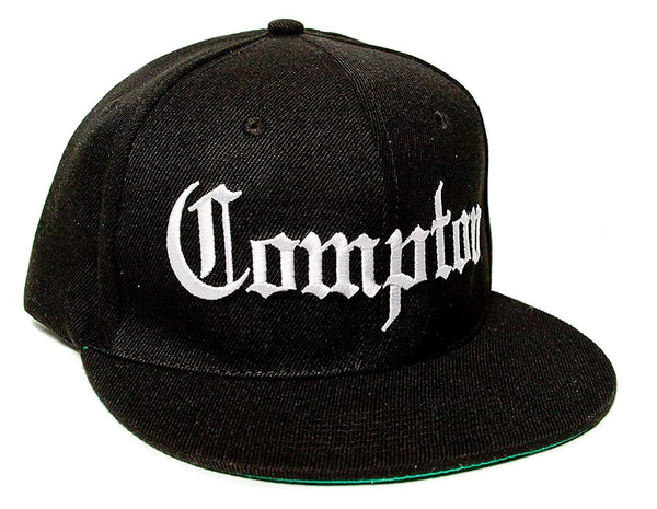 Compton Embroidered Unisex-Adult Trucker Hat -One-Size Black/black