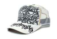 Christian Audigier COA Hat Cap Unisex Truckers City of Angeles White/White
