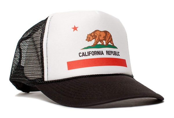 California Republic Flag Cali Unisex-Adult One Size Trucker Hat Cap