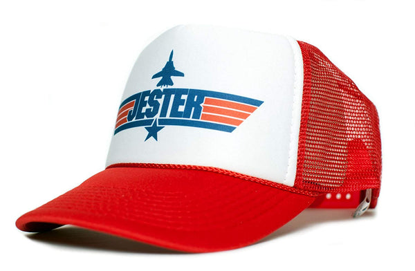 JESTER Top Gun Unisex-Adult Trucker Cap Hat -One-Size Multi (Red/White)