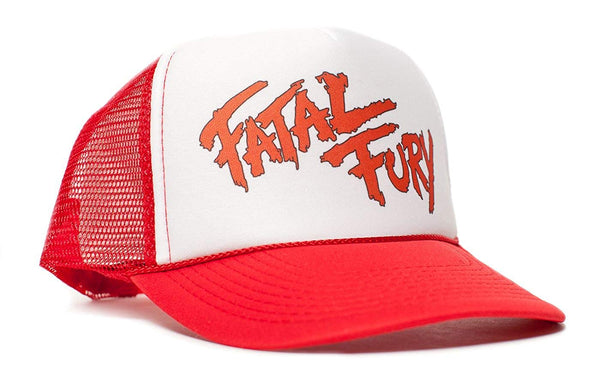 Fatal Fury Unisex-Adult Trucker Hat -One-Size Curved Bill Red/White