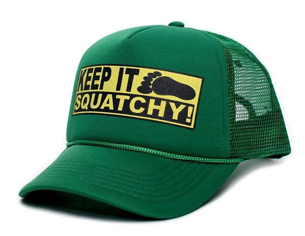 Custom Keep It Squatchy Bobo Adult Truckers Hat Cap Kelly