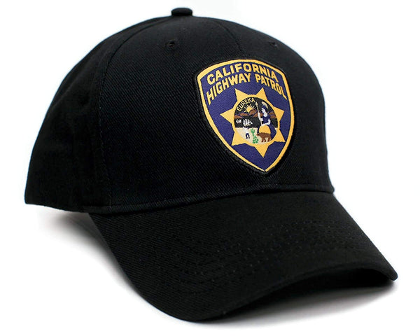 California Highway Patrol Eureka Badge Applique Hat Cap Adult One-Size Multi